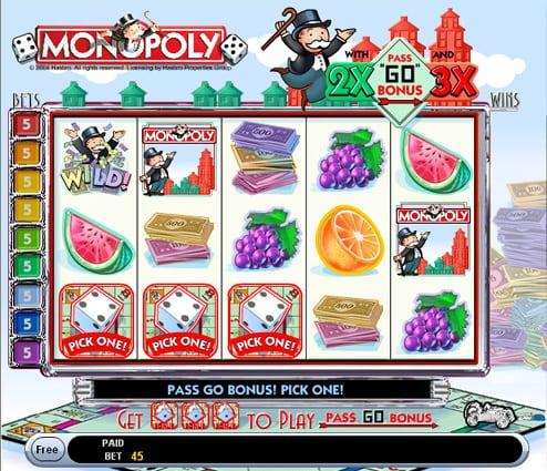 Monopoly Slots w/ Pass Go Bonus